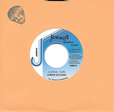 Junior Delgado - Illegal Gun / Illegal Version (Jammy's Records) UK 7""